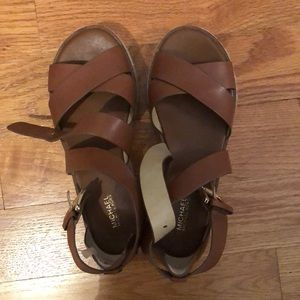 5fd3cf0e6f1a Michael Kors Shoes - Michael Kors Darby Flatform Sandal in Luggage- 7.5